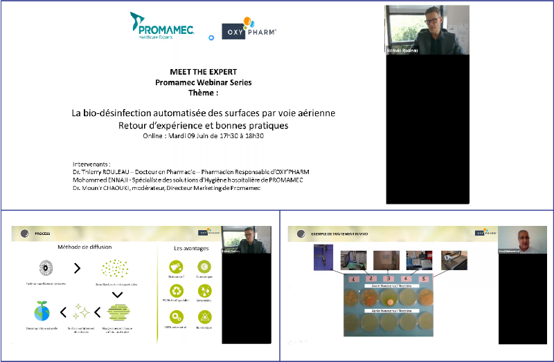 Webinar« Automated bio-disinfection of surfaces by air : Feedback and good practicesI